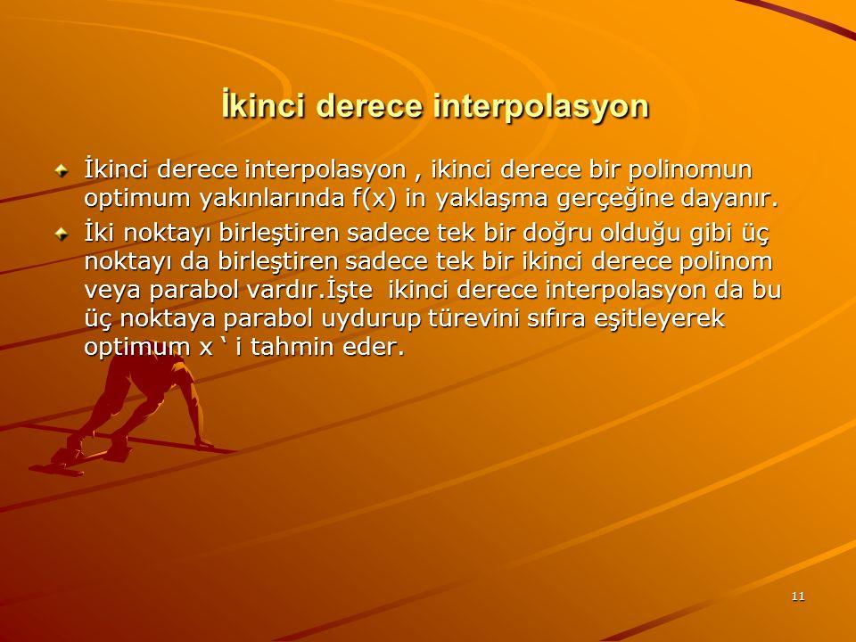 İkinci derece interpolasyon