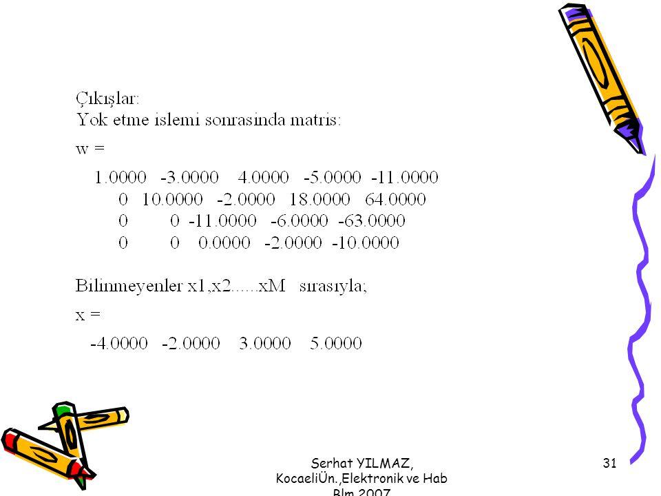 Serhat YILMAZ, KocaeliÜn.,Elektronik ve Hab Blm,2007