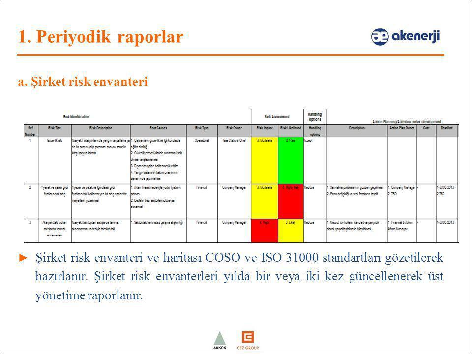 a. Şirket risk envanteri