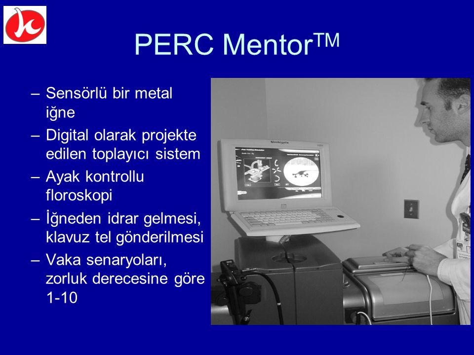 PERC MentorTM Sensörlü bir metal iğne
