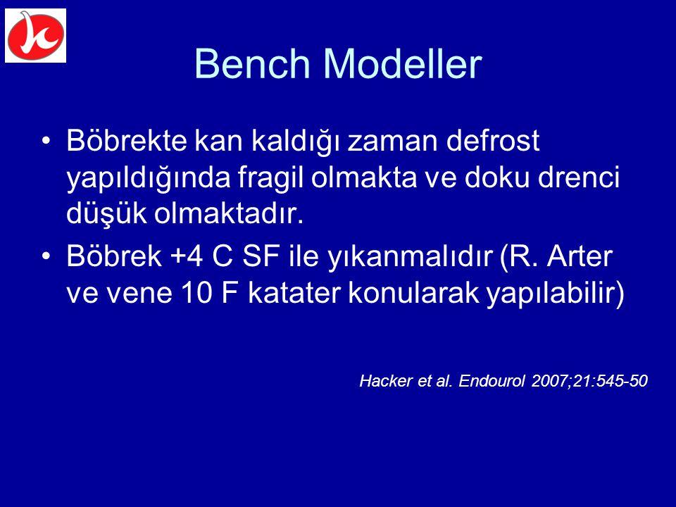 Bench Modeller Böbrekte kan kaldığı zaman defrost yapıldığında fragil olmakta ve doku drenci düşük olmaktadır.