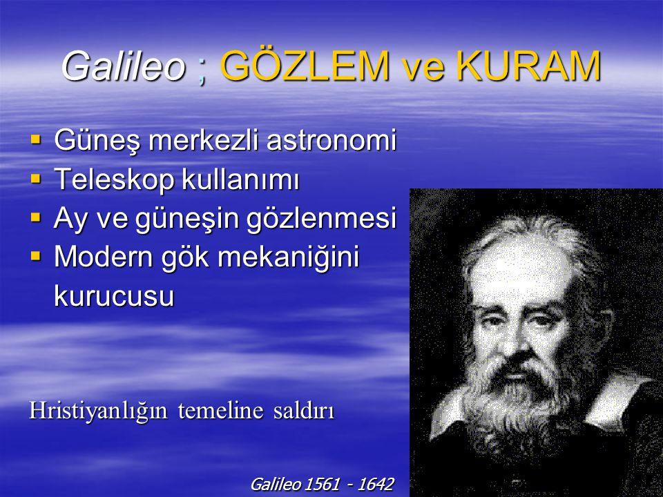Galileo ; GÖZLEM ve KURAM