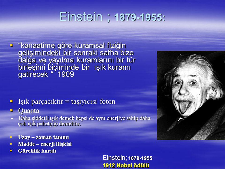 Einstein ; 1879-1955: