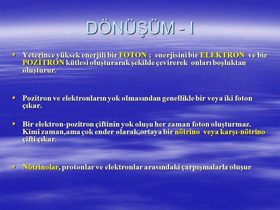 DÖNÜŞÜM - I