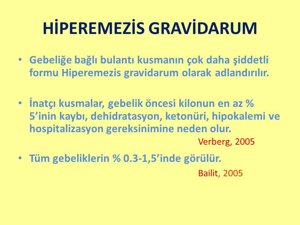 HİPEREMEZİS GRAVİDARUM