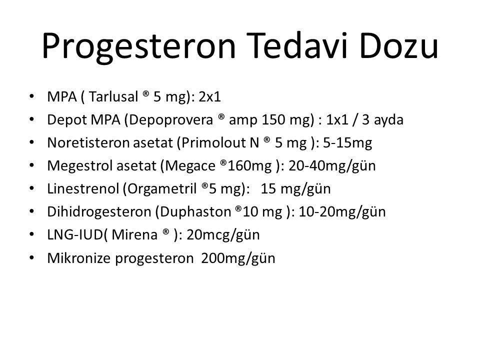 Progesteron Tedavi Dozu