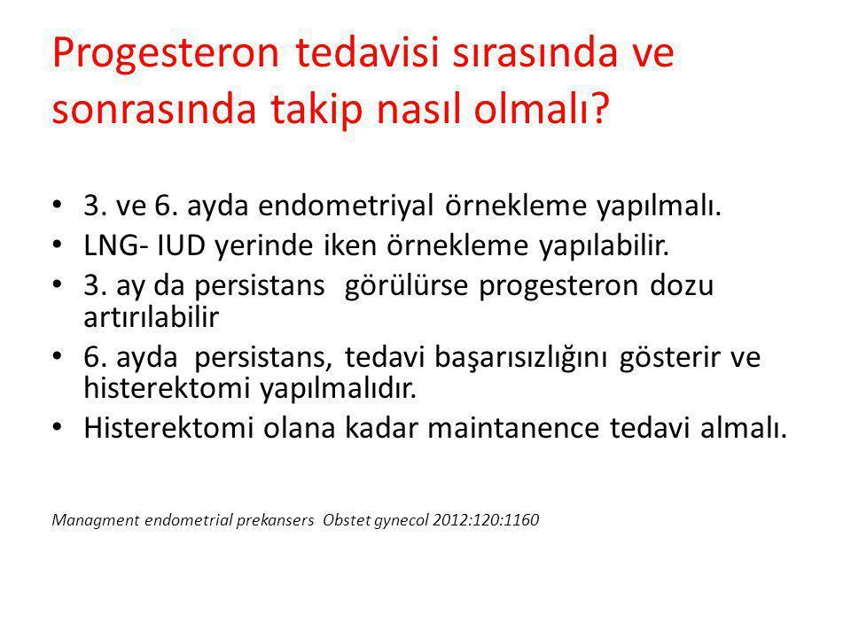 Progesteron tedavisi sırasında ve sonrasında takip nasıl olmalı