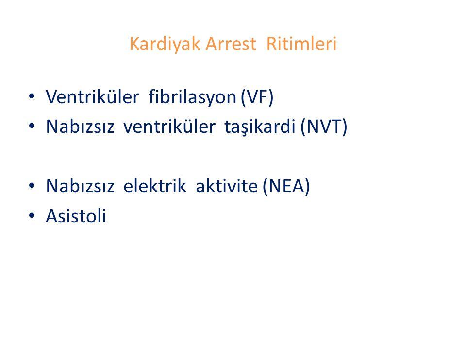 Kardiyak Arrest Ritimleri