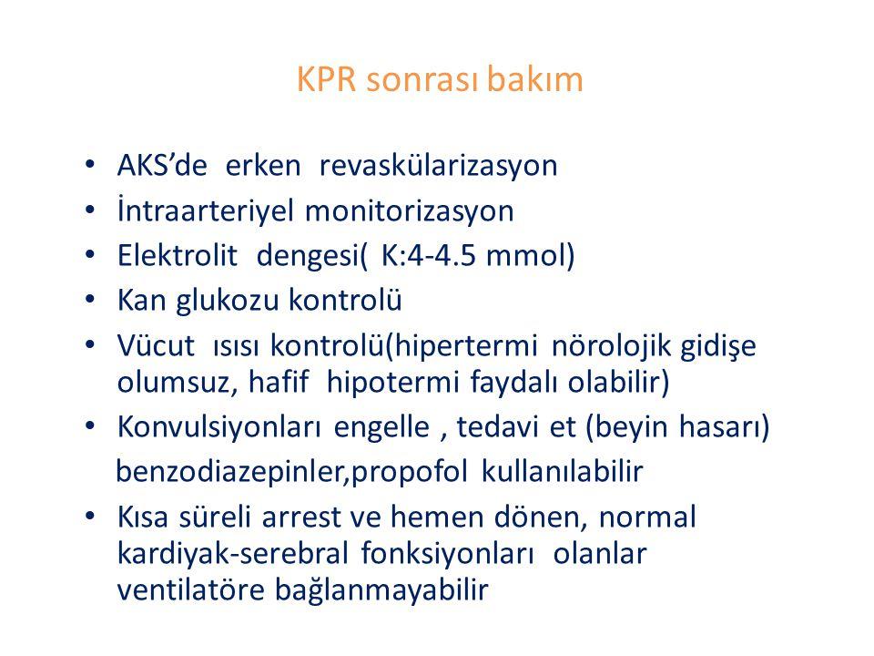 KPR sonrası bakım AKS'de erken revaskülarizasyon