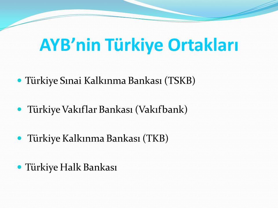 AYB'nin Türkiye Ortakları