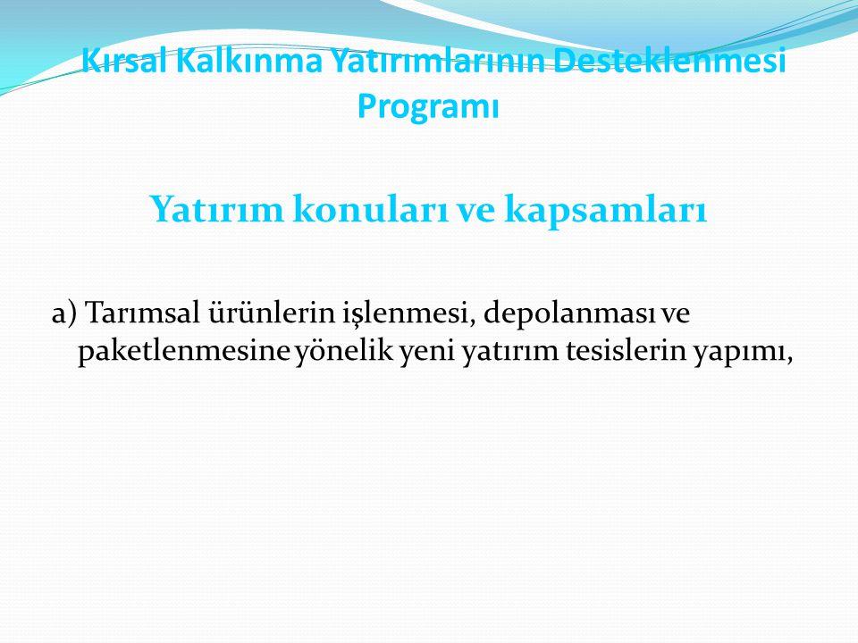 Kırsal Kalkınma Yatırımlarının Desteklenmesi Programı