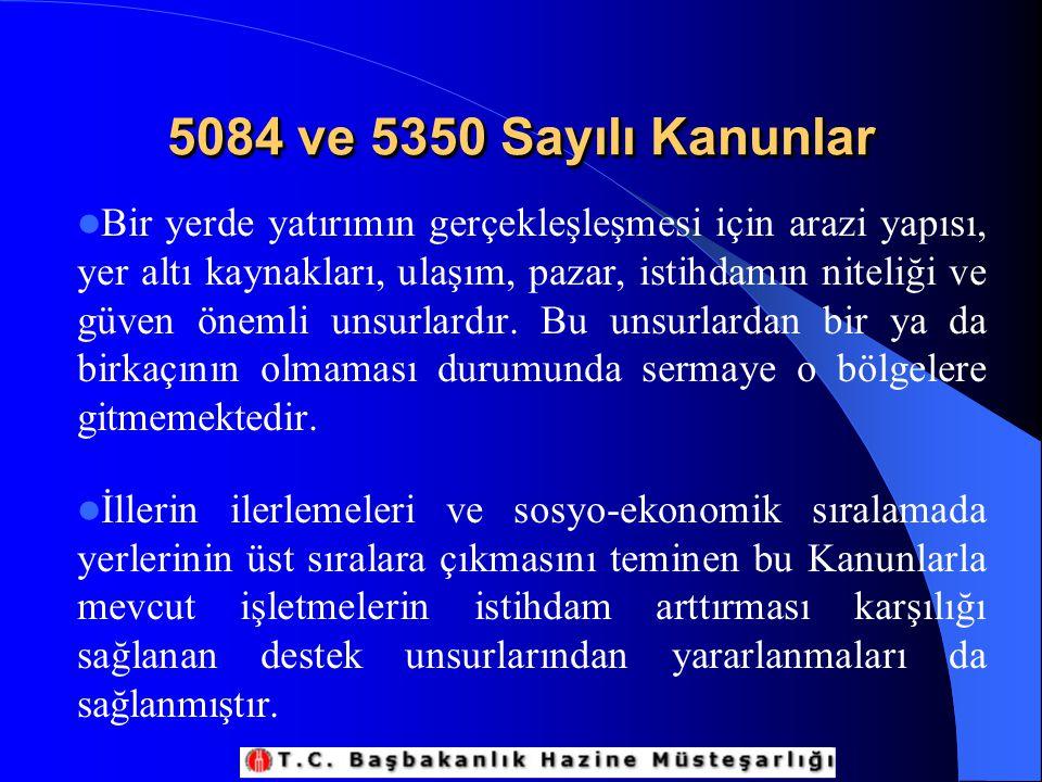 5084 ve 5350 Sayılı Kanunlar