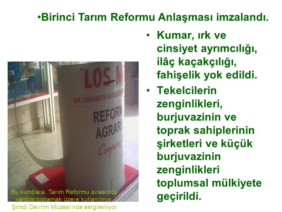 Birinci Tarım Reformu Anlaşması imzalandı.