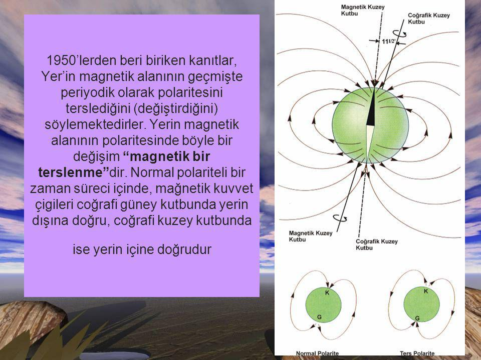 1950'lerden beri biriken kanıtlar, Yer'in magnetik alanının geçmişte periyodik olarak polaritesini terslediğini (değiştirdiğini) söylemektedirler.