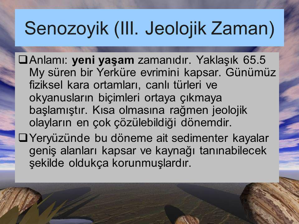 Senozoyik (III. Jeolojik Zaman)