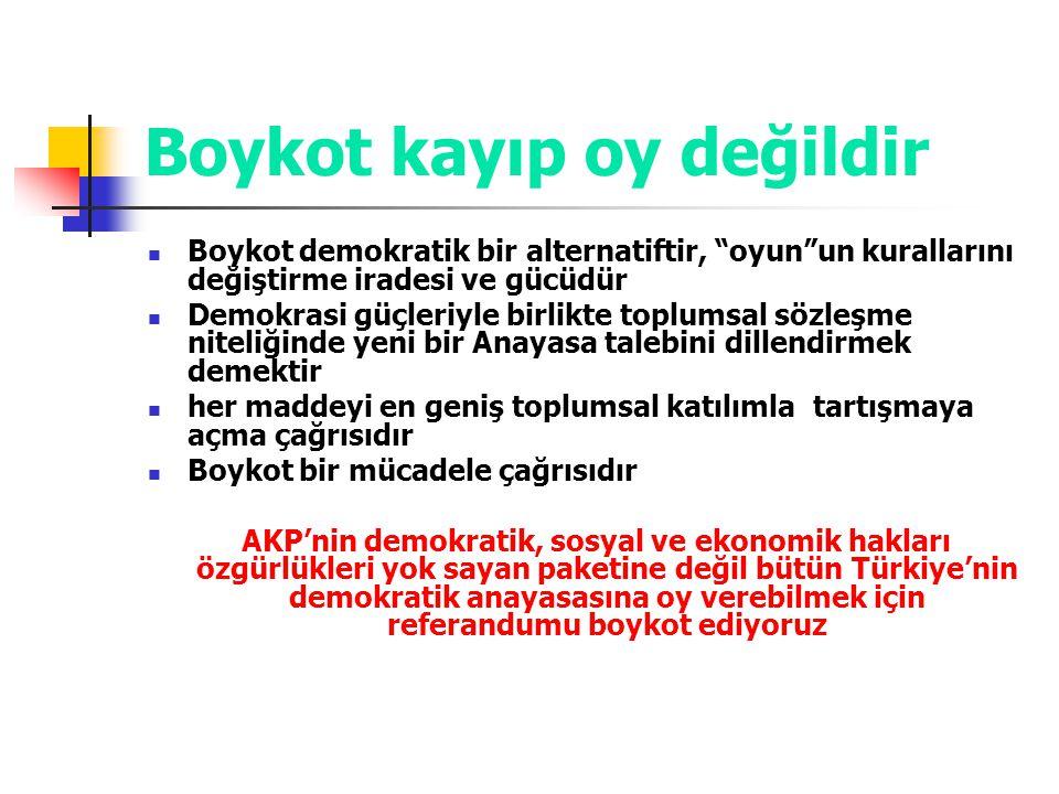 Boykot kayıp oy değildir