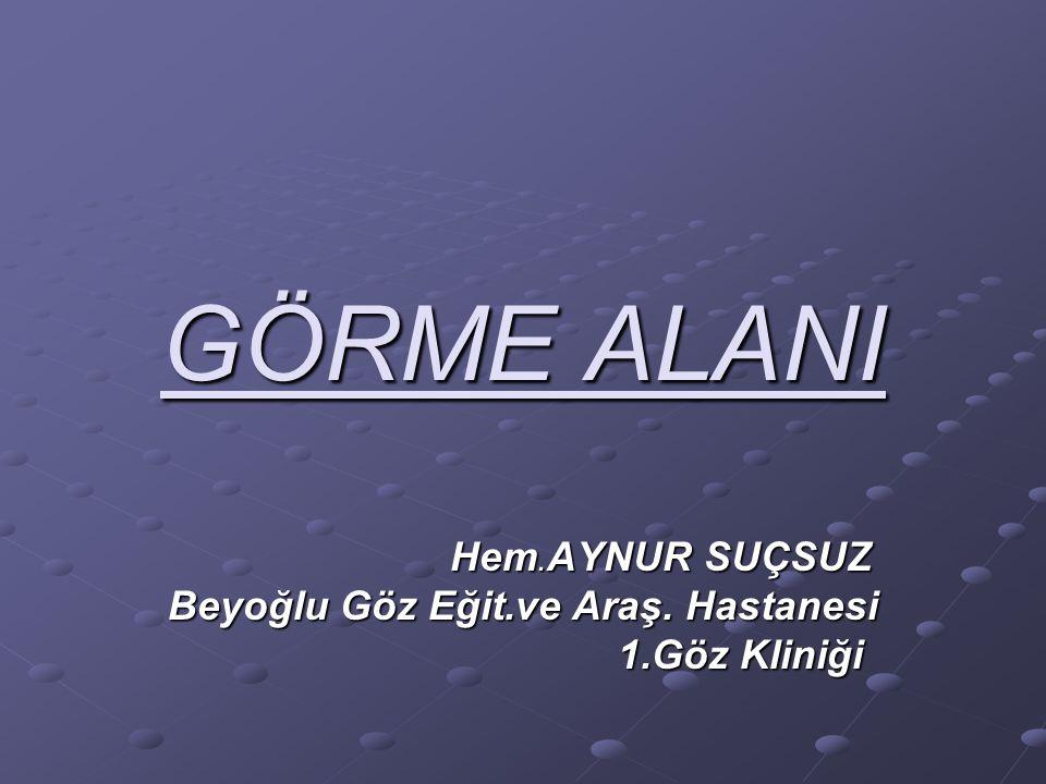 Hem.AYNUR SUÇSUZ Beyoğlu Göz Eğit.ve Araş. Hastanesi 1.Göz Kliniği