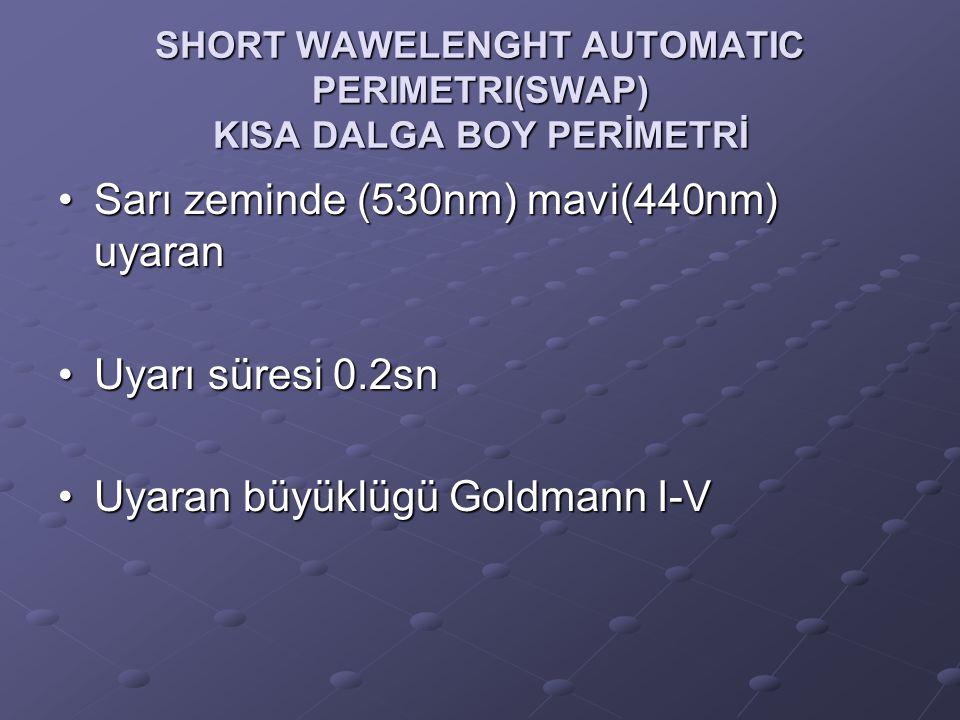 SHORT WAWELENGHT AUTOMATIC PERIMETRI(SWAP) KISA DALGA BOY PERİMETRİ