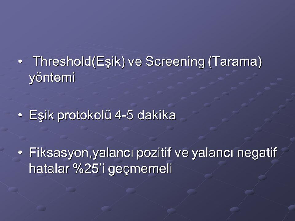 Threshold(Eşik) ve Screening (Tarama) yöntemi