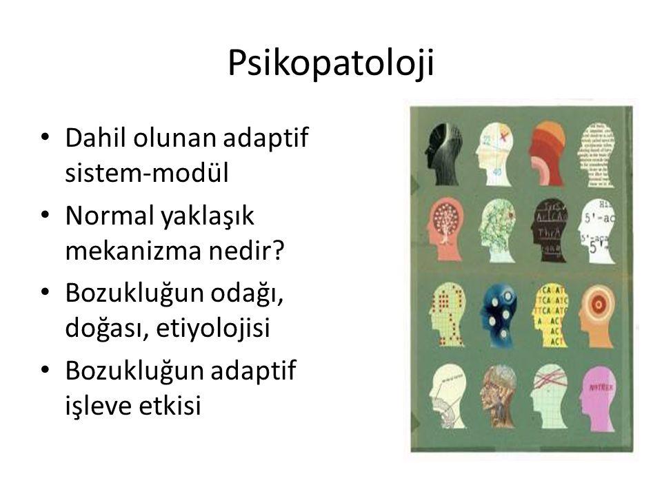 Psikopatoloji Dahil olunan adaptif sistem-modül