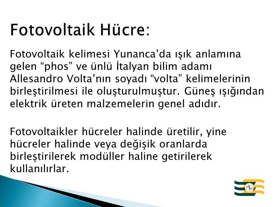 Fotovoltaik Hücre: