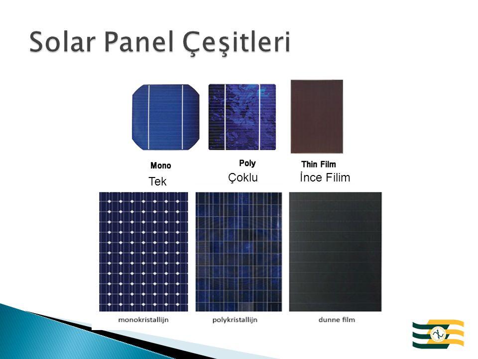 Solar Panel Çeşitleri Çoklu İnce Filim Tek