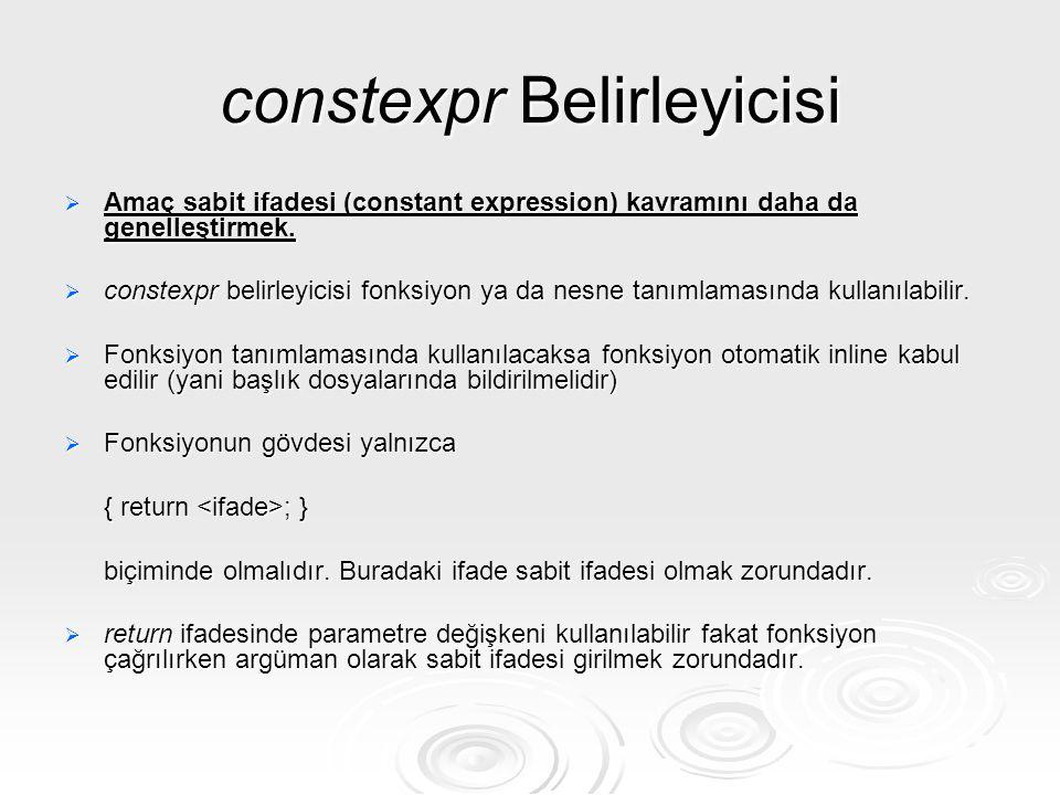 constexpr Belirleyicisi