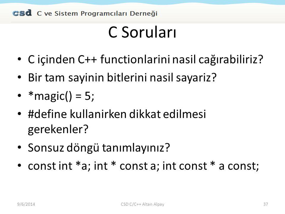 C Soruları C içinden C++ functionlarini nasil cağırabiliriz