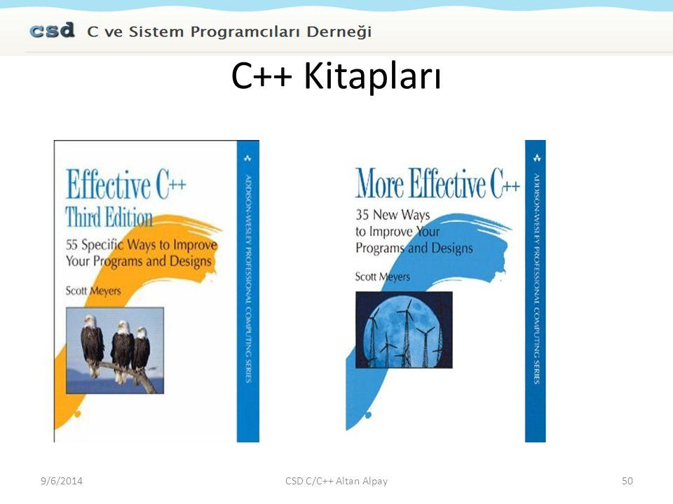 C++ Kitapları 4/6/2017 CSD C/C++ Altan Alpay