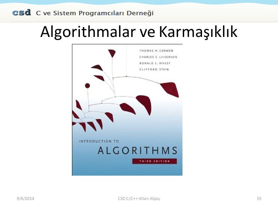 Algorithmalar ve Karmaşıklık