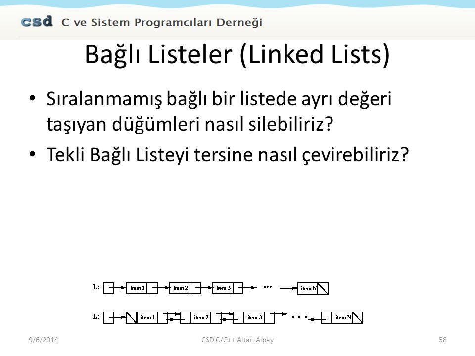 Bağlı Listeler (Linked Lists)