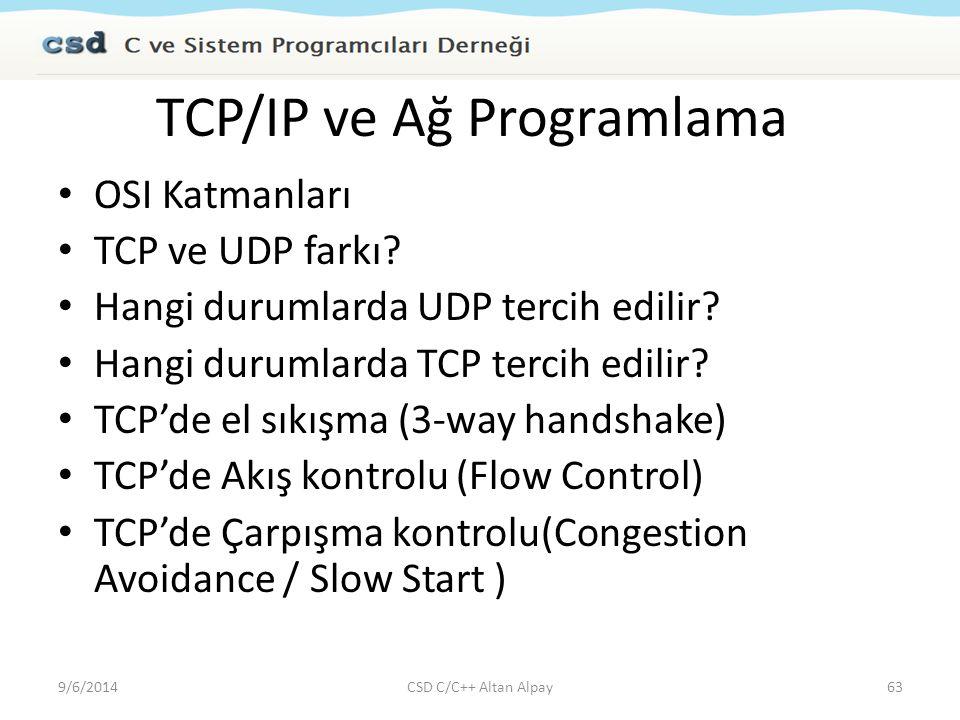 TCP/IP ve Ağ Programlama