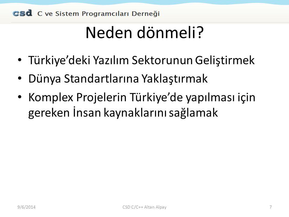 Neden dönmeli Türkiye'deki Yazılım Sektorunun Geliştirmek