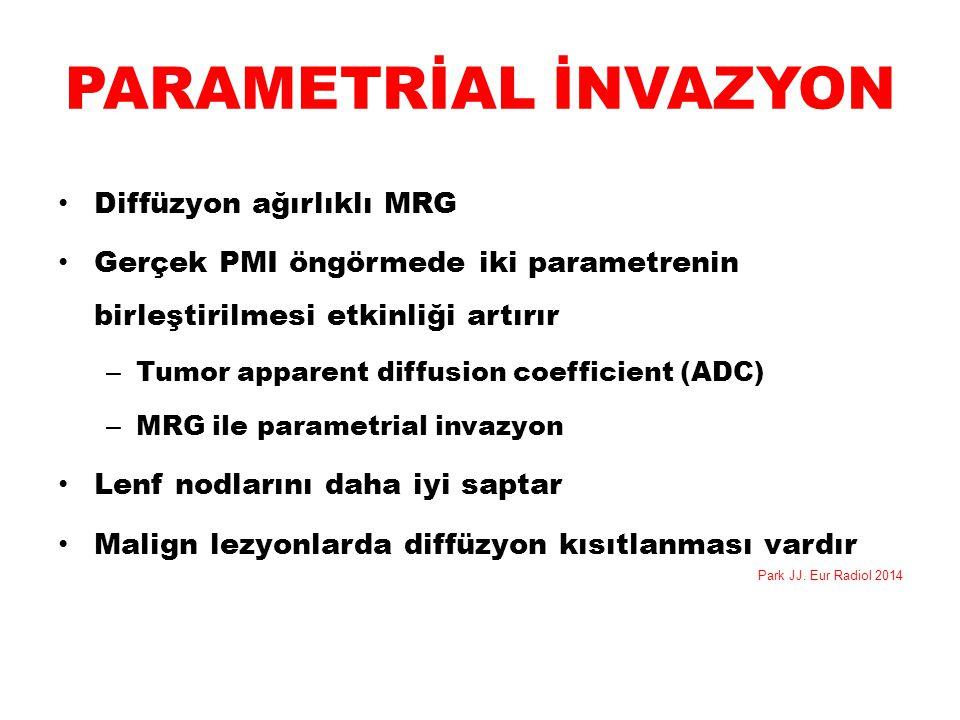 PARAMETRİAL İNVAZYON Diffüzyon ağırlıklı MRG
