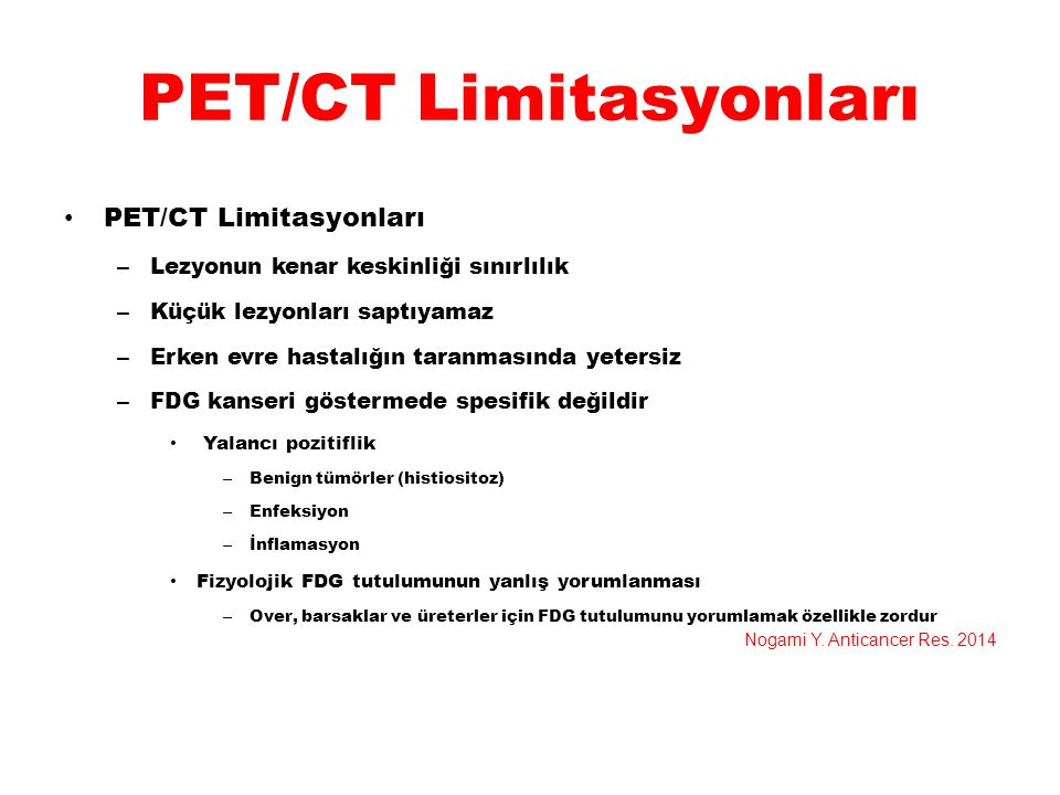 PET/CT Limitasyonları