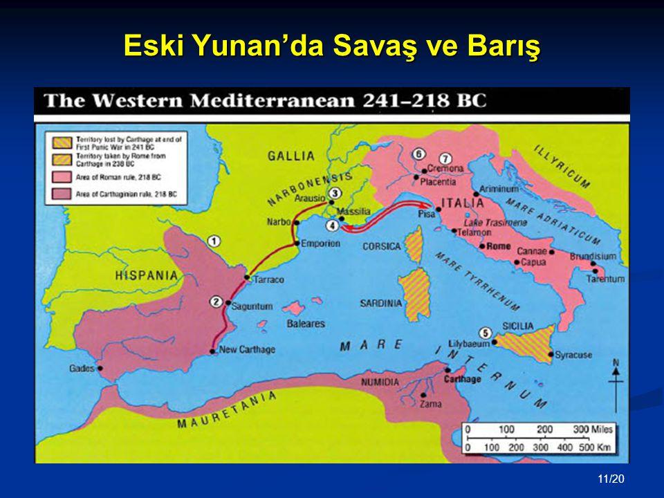 Eski Yunan'da Savaş ve Barış