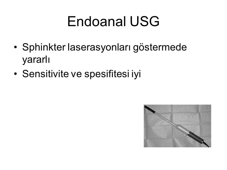 Endoanal USG Sphinkter laserasyonları göstermede yararlı