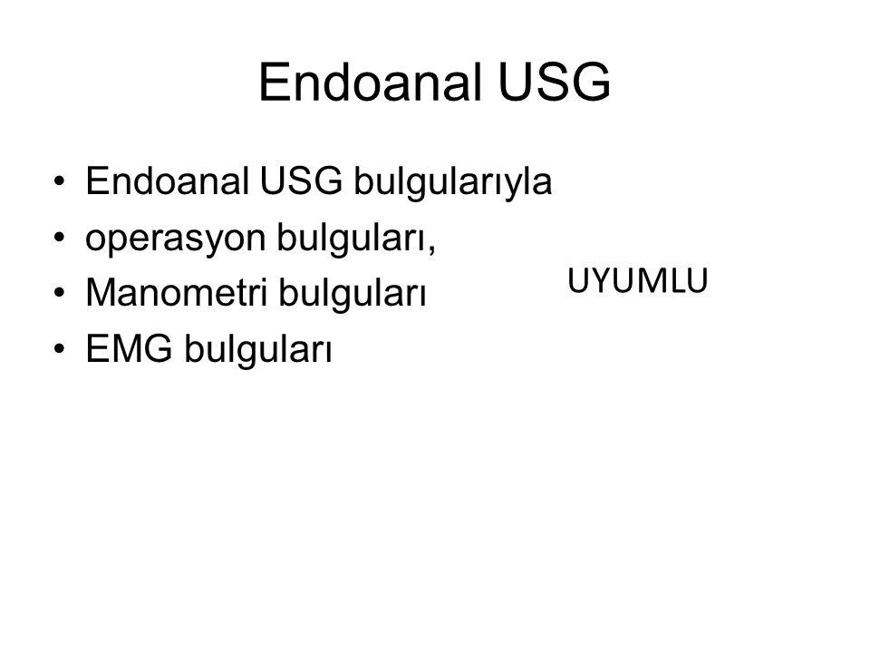 Endoanal USG Endoanal USG bulgularıyla operasyon bulguları,