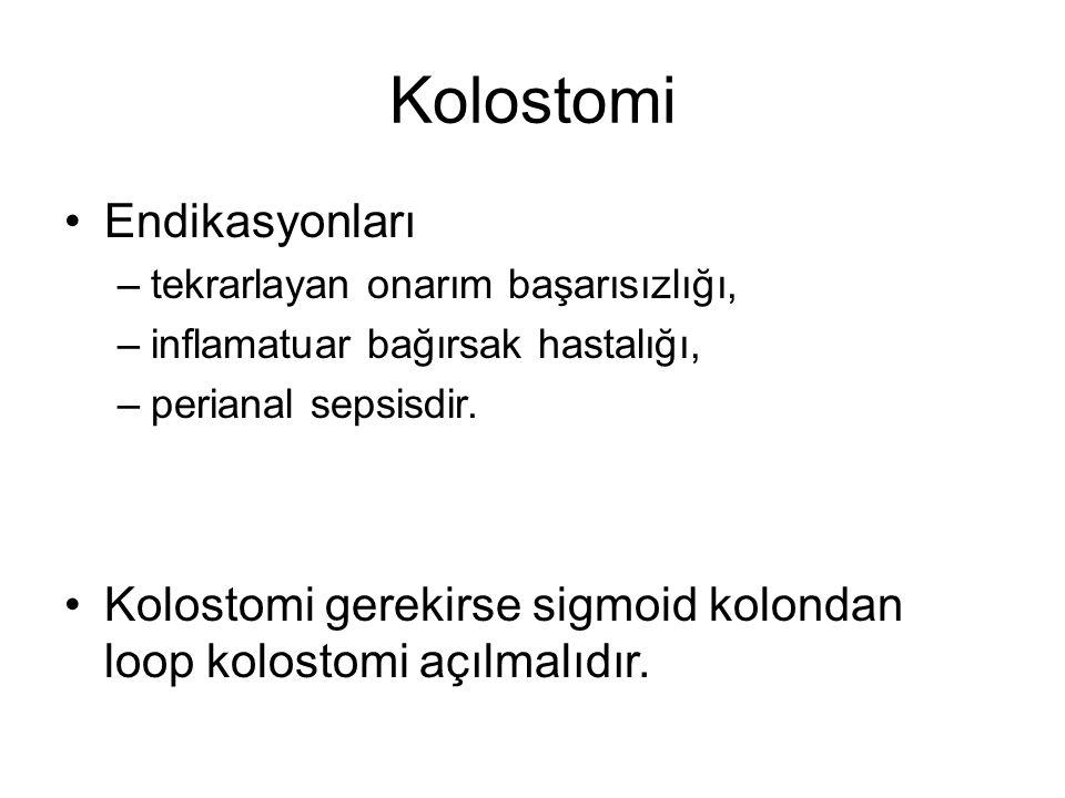 Kolostomi Endikasyonları