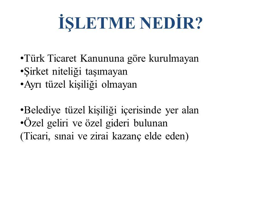 İŞLETME NEDİR Türk Ticaret Kanununa göre kurulmayan