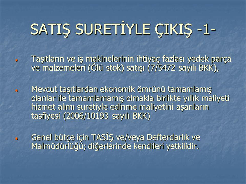 SATIŞ SURETİYLE ÇIKIŞ -1-
