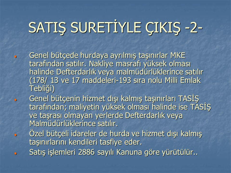 SATIŞ SURETİYLE ÇIKIŞ -2-