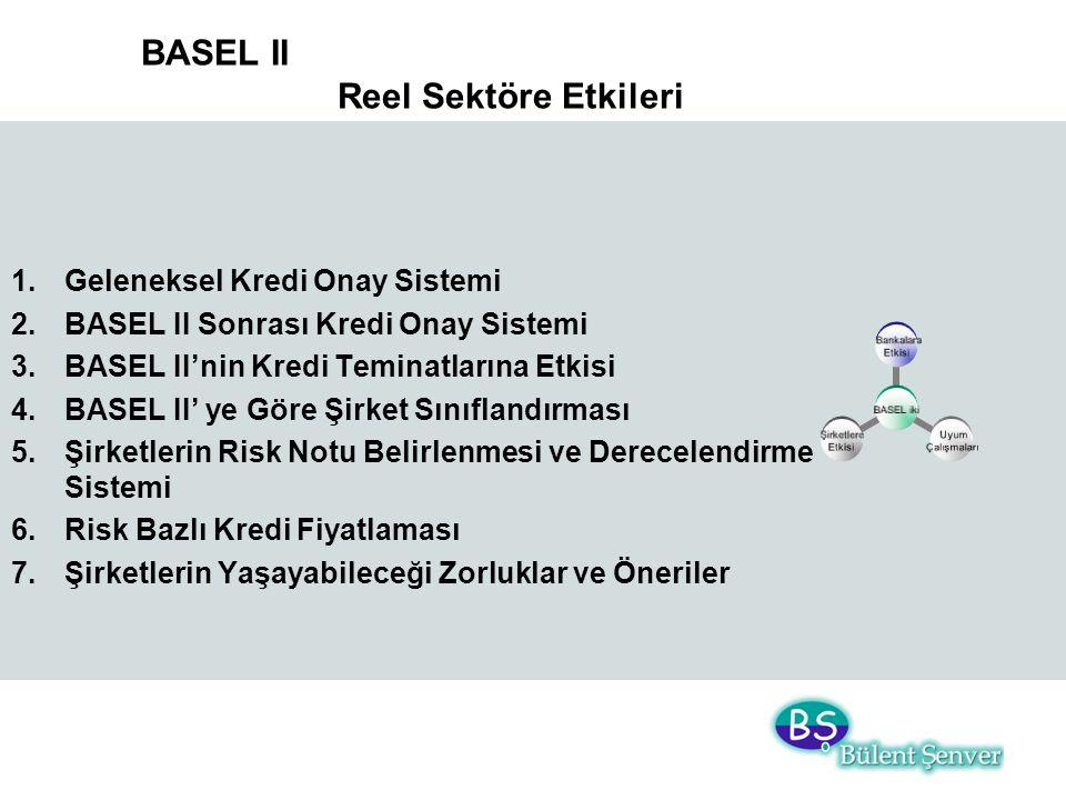 BASEL II Reel Sektöre Etkileri