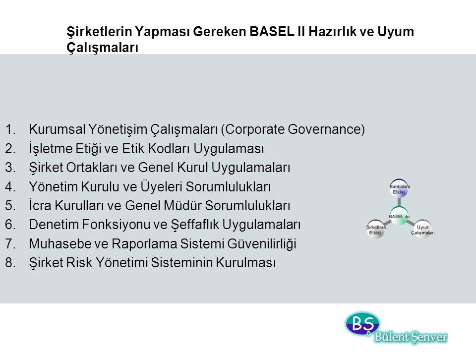 Şirketlerin Yapması Gereken BASEL II Hazırlık ve Uyum Çalışmaları