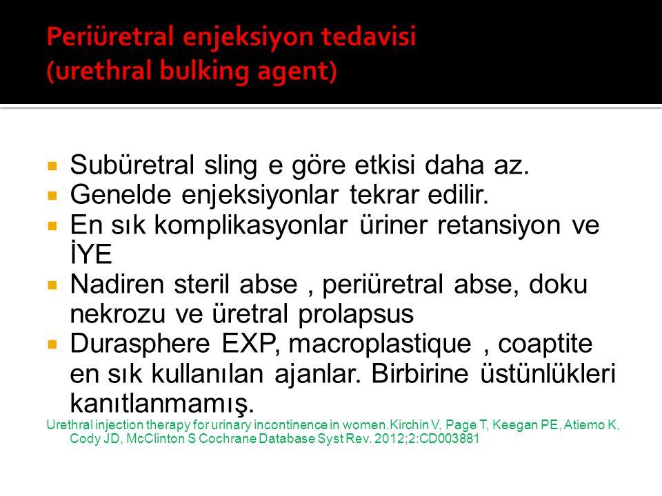 Periüretral enjeksiyon tedavisi (urethral bulking agent)
