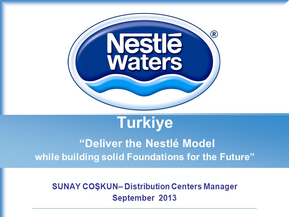 SUNAY COŞKUN– Distribution Centers Manager September 2013