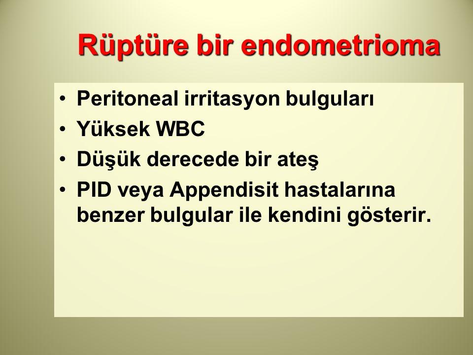 Rüptüre bir endometrioma