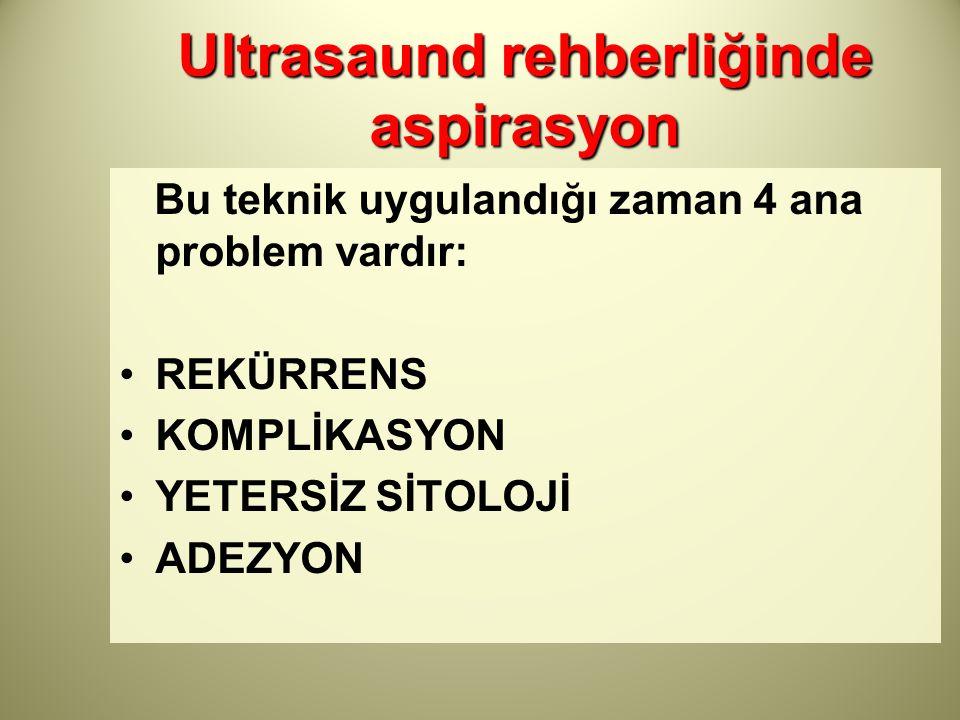 Ultrasaund rehberliğinde aspirasyon