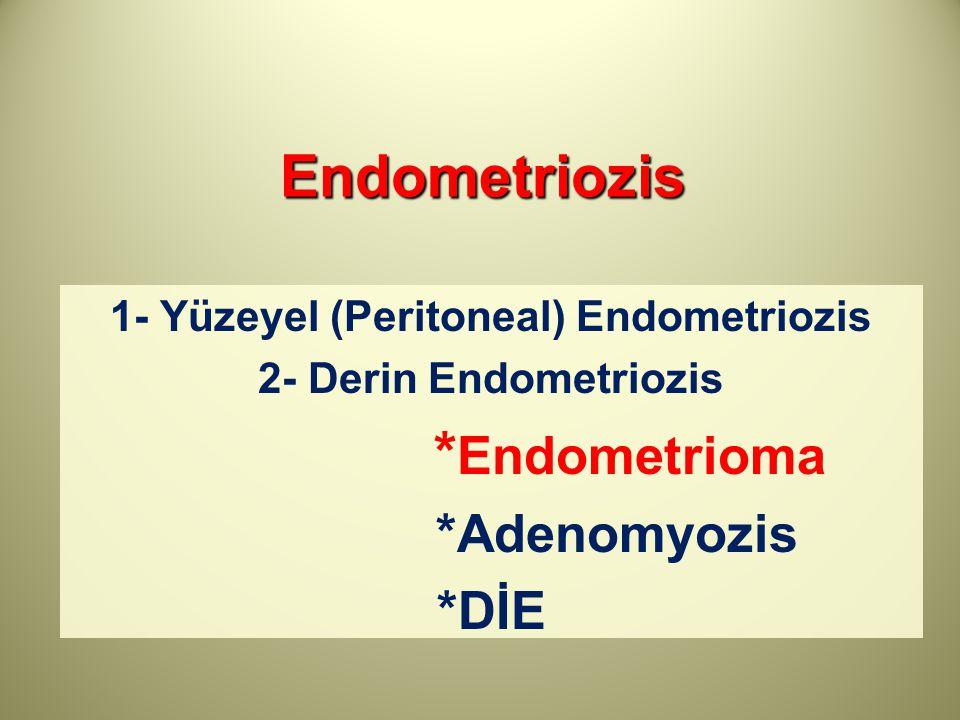 1- Yüzeyel (Peritoneal) Endometriozis