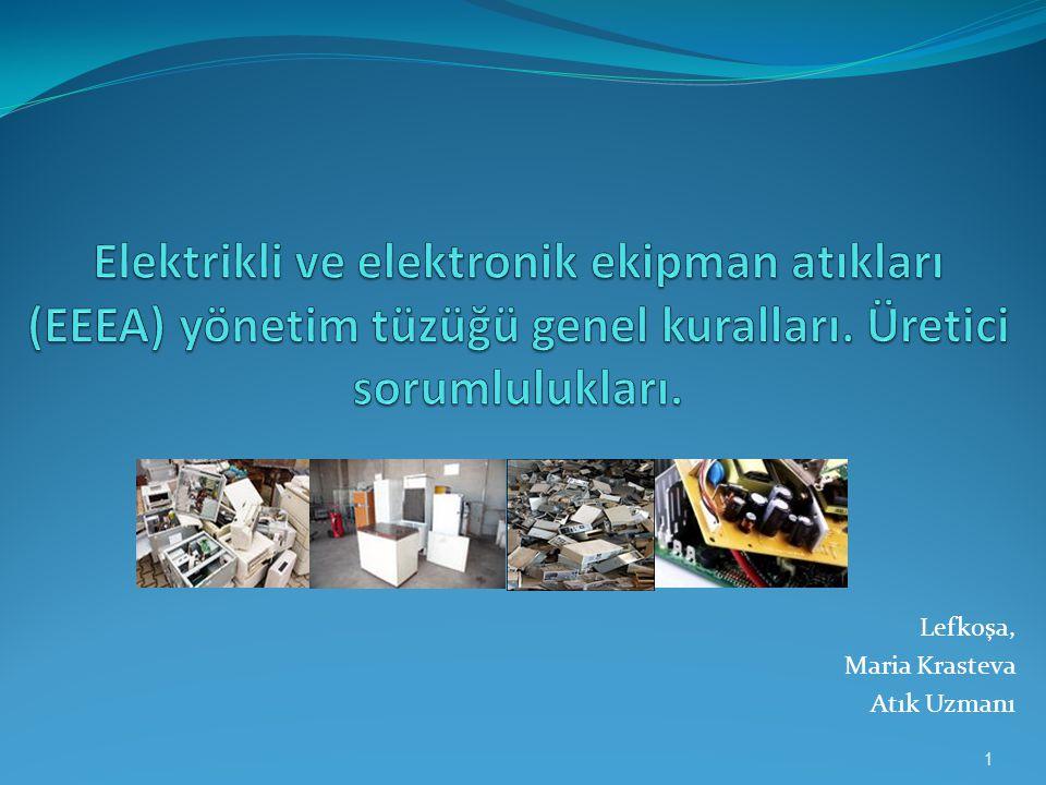Elektrikli ve elektronik ekipman atıkları (EEEA) yönetim tüzüğü genel kuralları. Üretici sorumlulukları.